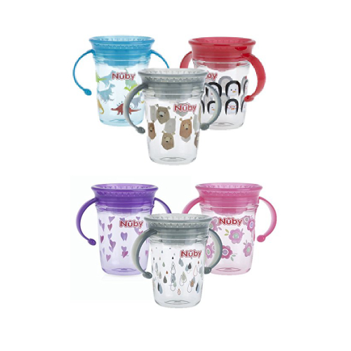 360 Mini Nuby 1st Sipeez No Spill Cup with Lid 240ml 4-12 Months BPA Free