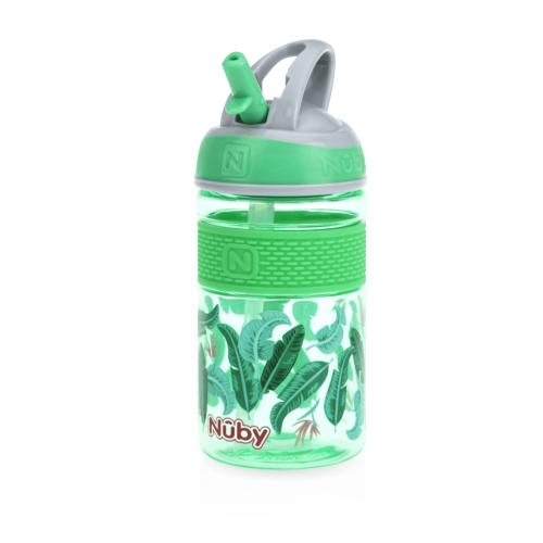 NUBY Mighty swig Freeflow Cup 18 mois Carlin Design et Essuyez bavoir bébé